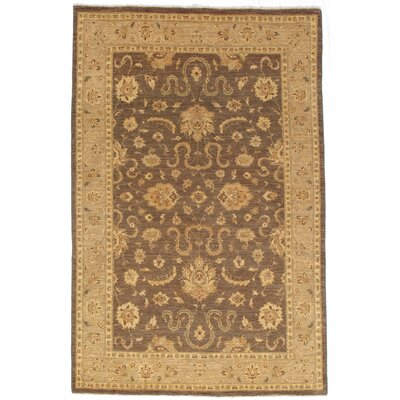 Frimunt Hand-Knotted Wool Brown Area Rug