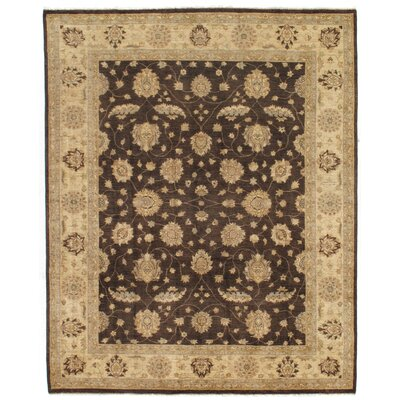 Dowding Hand-Knotted Wool Brown/Ivory Area Rug