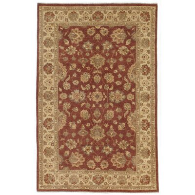 Dowding Hand-Knotted Wool Red/Brown Area Rug