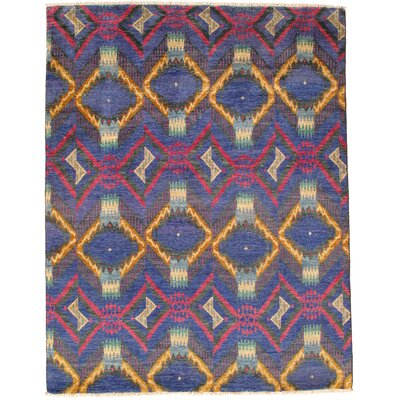 Agnes Lake Hand-Knotted Wool Blue Area Rug