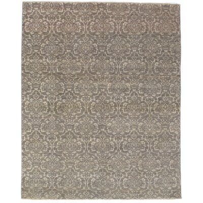 Galiena Hand-Knotted Wool Dark Gray Area Rug