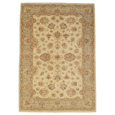 Dowless Hand-Knotted Wool Ivory/Gray Area Rug