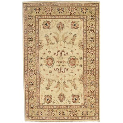 Garrey Hand-Knotted Wool Ivory Area Rug