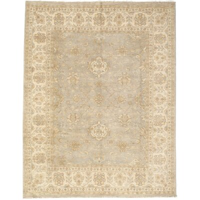 Garson Hand-Knotted Wool Cream/Gray Area Rug