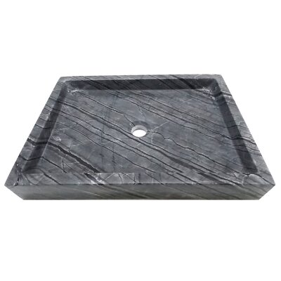 Stone Rectangular Vessel Bathroom Sink