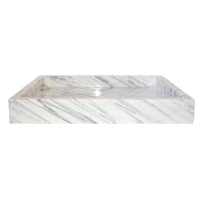 Carrara Marble Rectangular Vessel Bathroom Sink