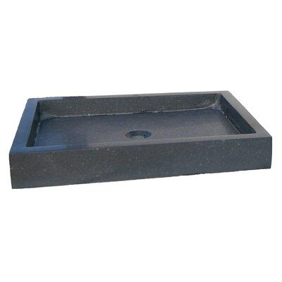 Honed Basalt Rectangular Vessel Bathroom Sink