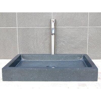 Infinity Pool Honed Basalt Rectangular Vessel Bathroom Sink
