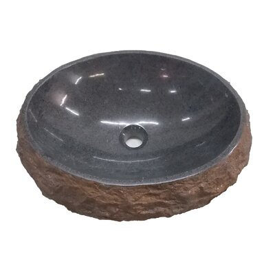 Padang Dark Granite Oval Vessel Bathroom Sink