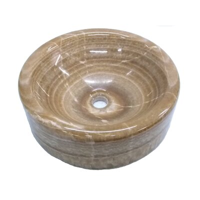 Barrel Onyx Polished Circular Vessel Bathroom Sink
