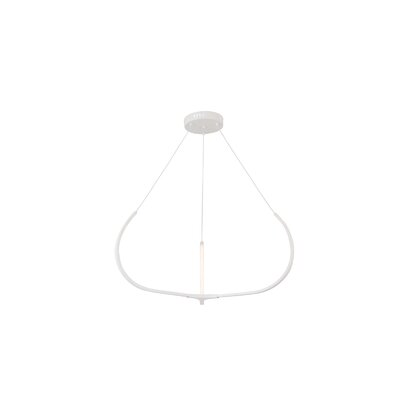 Pavilion LED Geometric Pendant Finish: White