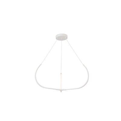 Pavilion LED Geometric Pendant Finish: White