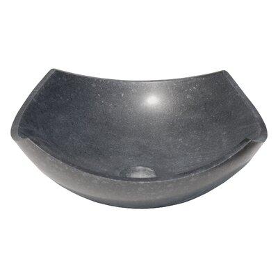 Arched Edges Bowl Honed Basalt Square Vessel Bathroom Sink