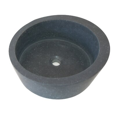 Arched Ellipse Honed Basalt Circular Vessel Bathroom Sink
