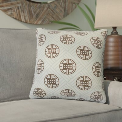 Delit Geometric Linen Throw Pillow Cover Color: Surf