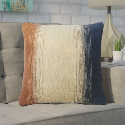 Wigington Ombre Down Filled Throw Pillow Size: 22 x 22, Color: Cognac