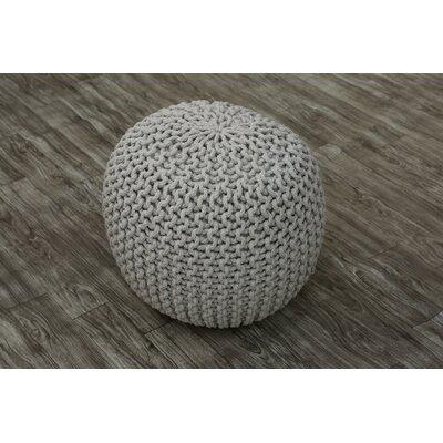 Eldora Pouf Upholstery: Silver