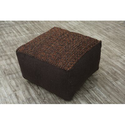 Wherry Pouf Ottoman Upholstery: Brown
