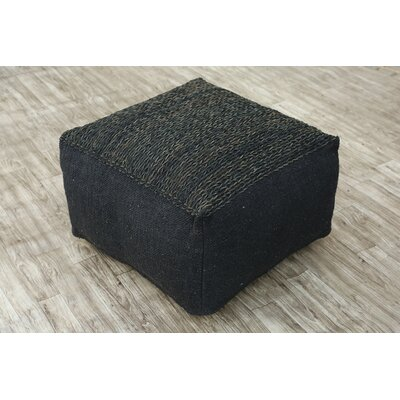 Wherry Pouf Upholstery: Black