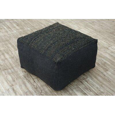 Wherry Pouf Ottoman Upholstery: Black