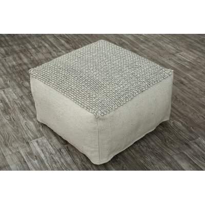 Easton Pouf Upholstery: White/Silver