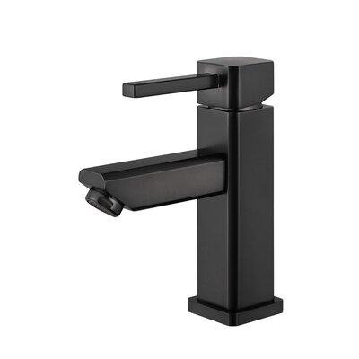 Single Hole Single Handle Bathroom Faucet with Drain Assembly Finish: Oil Rubber Black