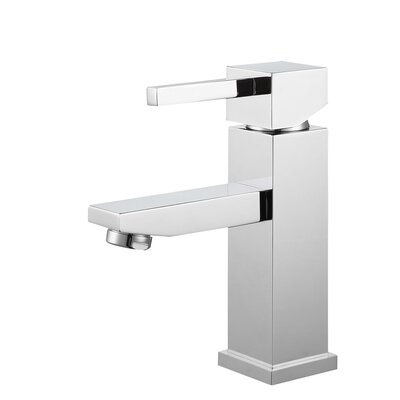 Single Hole Single Handle Bathroom Faucet with Drain Assembly Finish: Chrome