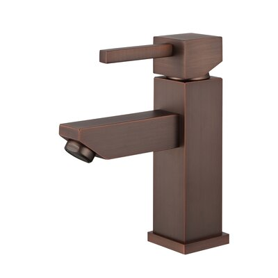 Single Hole Single Handle Bathroom Faucet with Drain Assembly Finish: Brown Bronze
