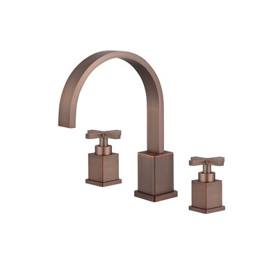 Widespread Double Handle Bathroom Faucet with Drain Assembly Finish: Brown Bronze