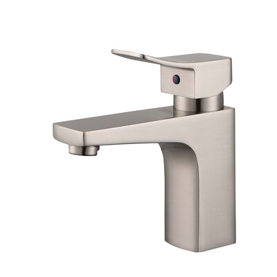 Single Hole Single Handle Bathroom Faucet with Drain Assembly Finish: Brushed Nickel