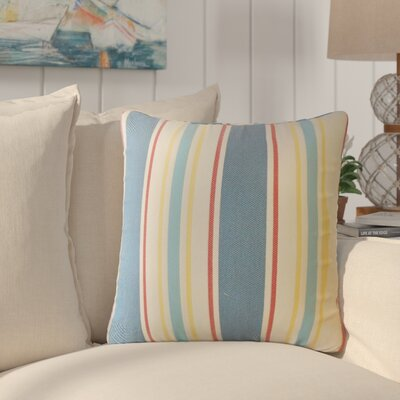 Jolana Striped Down Filled Throw Pillow Size: 22 x 22, Color: Cobalt