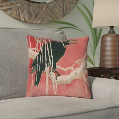 Montreal Crow and Willow Outdoor Throw Pillow Size: 20 x 20