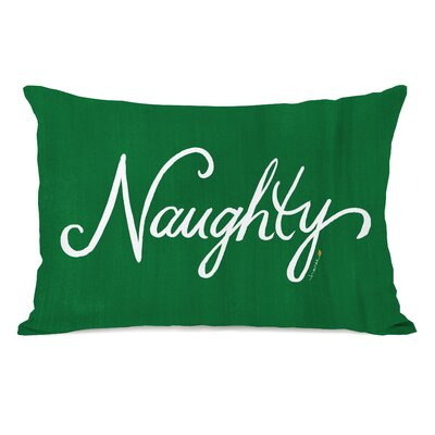 Nice Naughty Script Reversible Lumbar Pillow