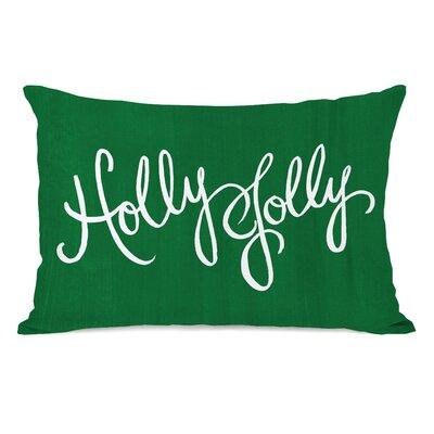 Holly Jolly Script Lumbar Pillow