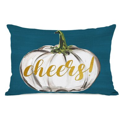 Pruett Cheers Pumpkin Lumbar Pillow