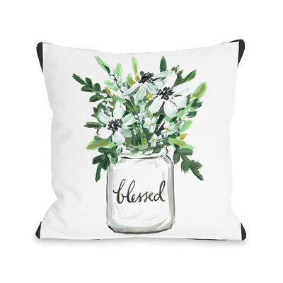 Branner Blessed Mason Jar Throw Pillow Size: 16 x 16