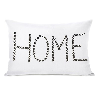 Daubert Home Cross Stitch Lumbar Pillow
