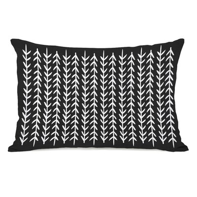 Boyle Leaf Stripes Lumbar Pillow