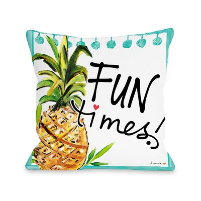 Daugherty Tropical Fun Times Throw Pillow Size: 16 x 16