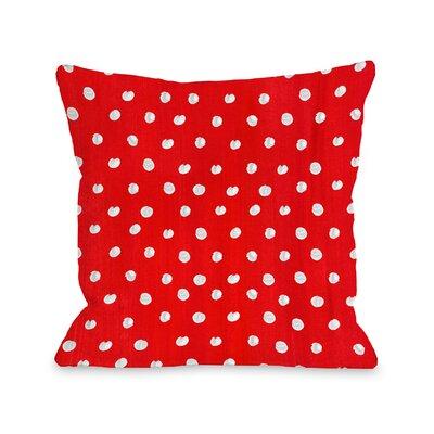 Polka Dots Throw Pillow Size: 16 x 16