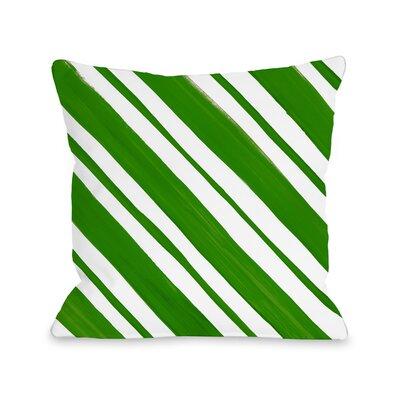 Square Candy Stripe Throw Pillow Size: 16 x 16