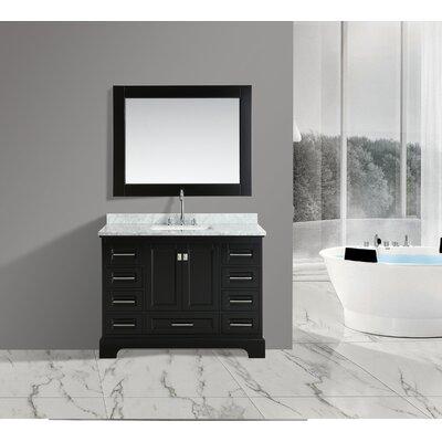 Saugatuck 48 Single Bathroom Vanity Set with Mirror Base Finish: Espresso