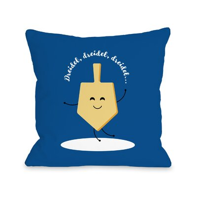 Dreidel Dreidel Dreidel Throw Pillow Size: 16 x 16