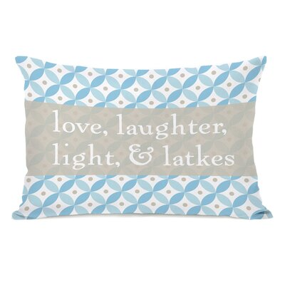 Love Laughter Light Latkes Lumbar Pillow