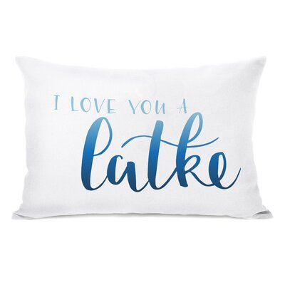Love You a Latke Lumbar Pillow