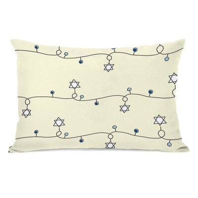 Hanukkah Light Strand Lumbar Pillow