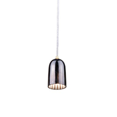 Doric 1-Light LED Mini Pendant Finish: Polished Black