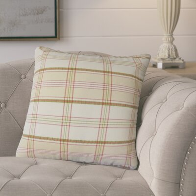 Jacobsen Plaid Down Filled 100% Cotton Throw Pillow Size: 24 x 24