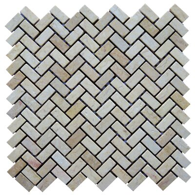 Pescaro 0.6 x 1.3 Natural Stone Mosaic Tile in Beige