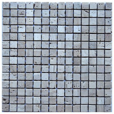 Cosenza 0.8 x 0.8 Travertine Mosaic Tile in Beige